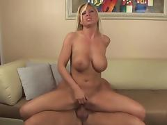 Blonde big tits and big butt milf fucks great