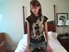 Amateur Meredith rides the sybian
