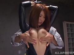 Hot doll with stunning tits gets amazing Asian fucking