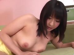 Megumi Haruka, busty beauty, adores sucking cock
