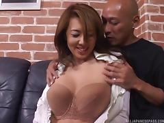 Amazing Asian mature babe gets hardcore rear fucking