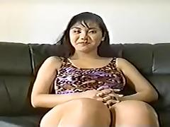 Big boobed Japanese beauty puts on a great show for me