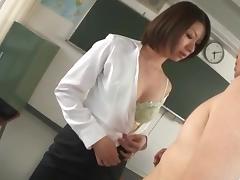 Kaoru Natsuki gets nasty on a big cock at work
