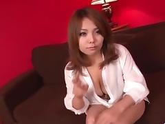 Voluptuous, Kanna Itou, goes wild on a stiff dong