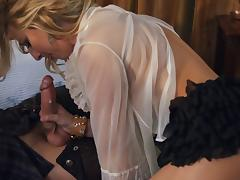 Shaved blonde woman gets a deep ass fucking from her hung lover