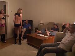 Hd - julie has a party at home and ends up having a threesome with her best friend
