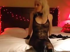Halloween, Blonde, Couple, Masturbation, Stockings, Webcam