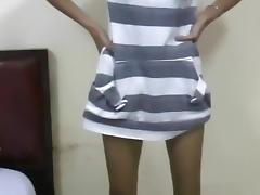 Skinny pattaya girl blows a party guy's cock and gets a failed tit cumshot