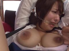 Naughty chic in Japan punished with a serious gangbang by the elders