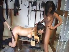 Bondage fun with a tgirl