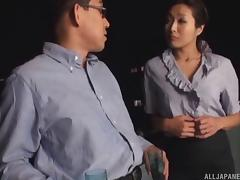 Asian girl enjoys some wine and gets her big tits sucked on