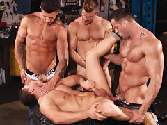 Body Shop XXX Video: Erik Rhodes, Landon Conrad, Marc Dylan, Trenton Ducati