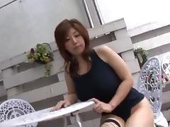 Busty milf in hot lingerie, Naho Hadsuki, fucked hard