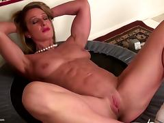 Strong muscular mature mom with tight pussy