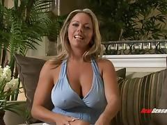 Tremendously busty and hot mom loves seeing a man with a big cock
