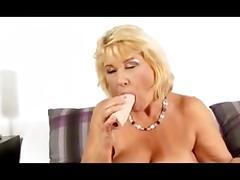 Granny in White Lingerie