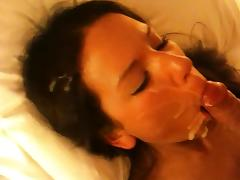 Throatfucked and baptized - amateur fucked and facialized