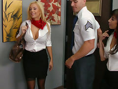 Horny flight attendants