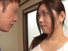 Exquisite Ayaka Yuuko sucking pole like an expert blow job