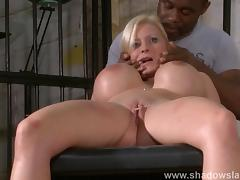 Melanie Moons extreme pussy piercing torture and hardcore german slavesex
