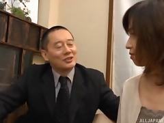 Mesmerizing brunette from Japan banged hard by the businessman