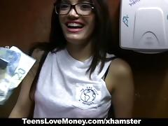 TeensLoveMoney - Library Nerd Fucks For Cash