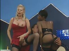 Granny Orgy, Anal, Black, Blonde, Ebony, Foursome