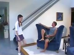 Skinny college girl Girlfriend Gets Fucked While fathers Out !