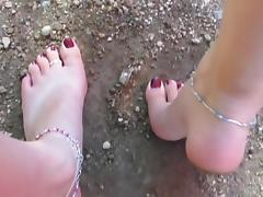 High arched girl grinds her soles