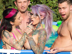 Joanna Angel & Seth Gamble & Bill Bailey in Sydnee Vicious - First Time Scene