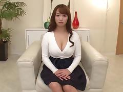 Sweet looking Asian girl with DD cups is an amazing cocksucker