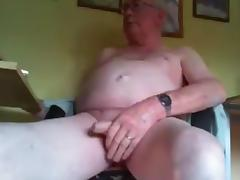 grandpa long stroke and play on cam