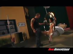 Big boobs brunette in bondage sustains hardcore throbbing in a reality shoot