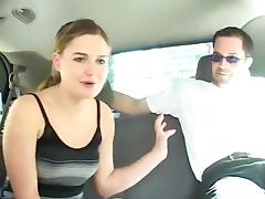 Cute college girl Autumn car fuck
