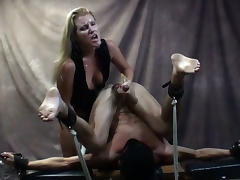 Mistress Ashley Edmonds Milks her Sex Slave for a Self Facial - MeanHandJobs