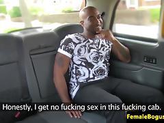 BBC loving chick cabbie seduces passenger