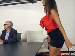 HR is going to be pissed that she gets fucked during a meeting