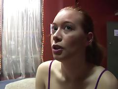 Gangbang and cumshots over redheads butt cheeks