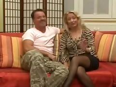 Nice German blonde MILF wants a piece of the action
