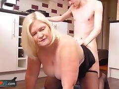 Grandma, Blonde, Fucking, Granny, Horny, Mature