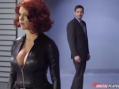 Captain America and busty slut Black Widow fucking