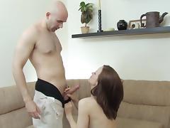 Sexy brunette loves nice sex