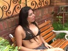 Amateur outdoor ass drilling with latina shemale