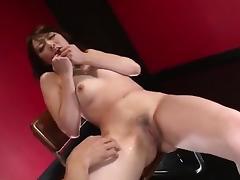 Tomoka Sakurai shaved pussy oral stimulation