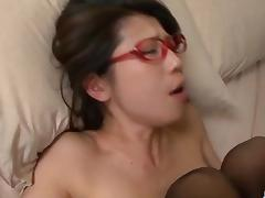 Mizuki Ogawa screams with cock in her vag