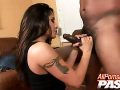 Adorable, Adorable, Blowjob, Brunette, Hardcore, Interracial