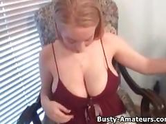 Busty amateur Kalis on hot masturbation