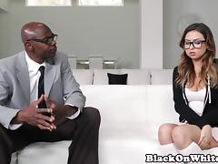 Interracial beauty Kelsi Monroe fucks BBC