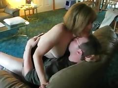 Mature wife-next-door rides a friend