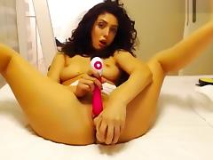 Dildo and vibrator cumshow